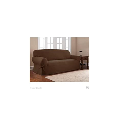 Awe Inspiring Mainstays 1 Piece Sofa Slipcover Color Costa Brown Camellatalisay Diy Chair Ideas Camellatalisaycom