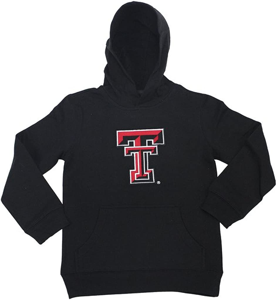 Genuine Stuff Boys Texas Tech Red Raiders Embroidered Hoodie