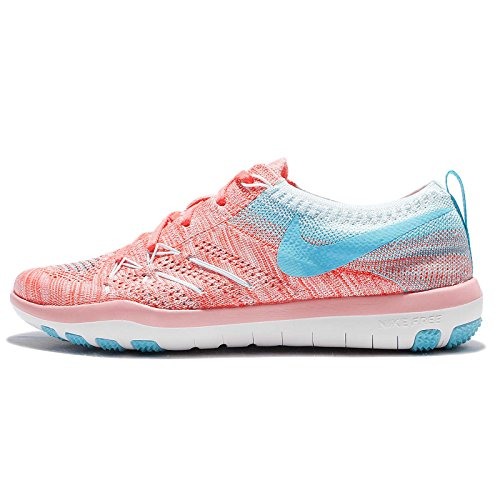 best service 0cb9e 3e710 Galleon - NIKE Womens Free TR Focus Flyknit Running Trainers 844817 Sneakers  Shoes (US 5.5, Bright Melon Polarised Blue 801)