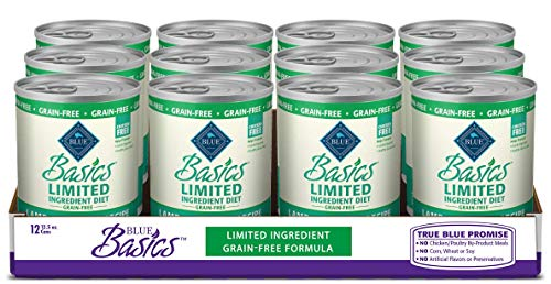 Blue-Buffalo-Basics-Limited-Ingredient-Diet-Grain-Free-Natural-Adult-Wet-Dog-Food-125-oz-cans-Pack-of-12