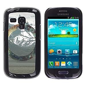 // PHONE CASE GIFT // Duro Estuche protector PC Cáscara Plástico Carcasa Funda Hard Protective Case for Samsung Galaxy S3 MINI 8190 / Geometría de la montaña Nevado /