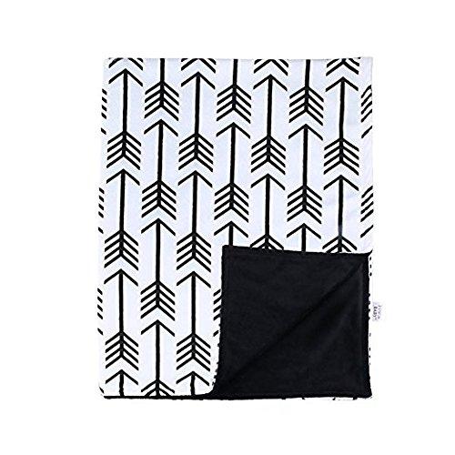 - Towin Baby Arrow Minky Double Layer Receiving Blanket, Black 30