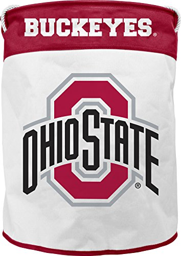 NCAA Ohio State Buckeyes Canvas Laundry Basket with Braided Rope Handles