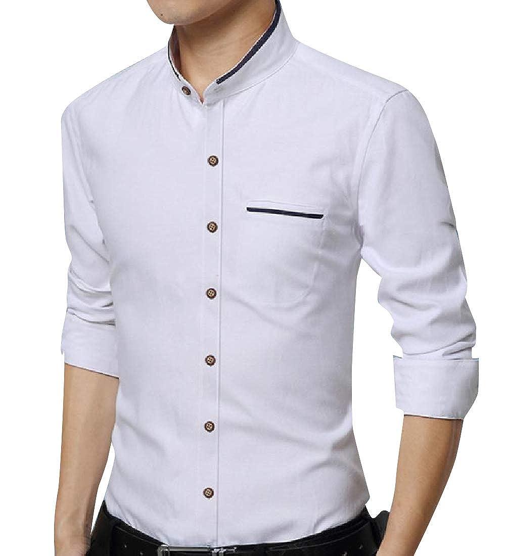 Zimaes-Men Oxford Cotton Regular Fit No Iron Button Down Shirt