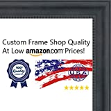 27x40 Traditional Black Wood Picture Frame - UV Acrylic, Foam Board Backing, & Hanging Hardware Included!