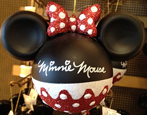 Disney Parks Minnie Mouse Glitter Ornament - Disney Parks Exclusive & Limited Availability