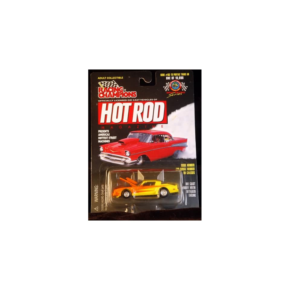 Racing Champions   Hot Rod Magazine   1978 Pontiac Trans AM   164 Scale   Limited Edition 1/19,998   Issue #103