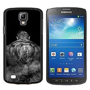 Cubierta protectora del caso de Shell Plástico || Samsung Galaxy S4 Active i9295 || Art Tattoo Negro Blanco músculos de la espalda del hombre calvo @XPTECH
