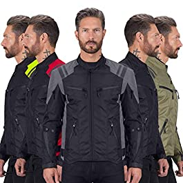 Viking Cycle Ironborn Protective Textile Motorcycle Jacket for Men – All Weather, Breathable, CE Approved Armor for…