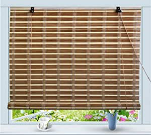 bamboo roll up window blind sun shade w42 x h72 home kitchen. Black Bedroom Furniture Sets. Home Design Ideas