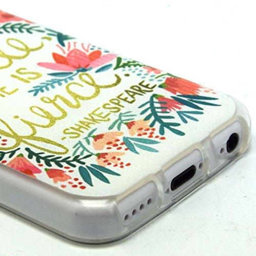 iPhone 5C coque en TPU doux, Yaobaistore Coque en silicone gel Coque de protection en TPU pour Apple iPhone 5C souple Coque