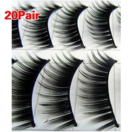 20 Pairs Black Thick Natural Long Makeup False Fake Eyelash Eye Lashes #149 Boolevard Cosmetics Ltd.