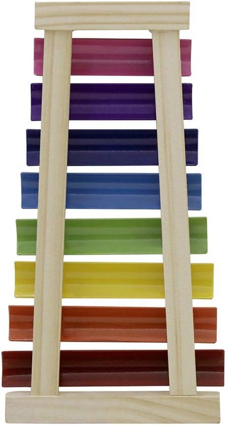 giocattolo percussione muslady Misura 8 appunti glockenspiel con bacchette di legno regalo per bambini strumento musicale