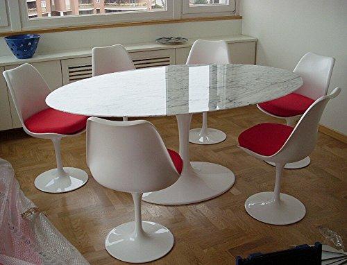 Tavolo Saarinen Marmo : Saarinen tavolo tulip ovale cm marmo carrara made in italy
