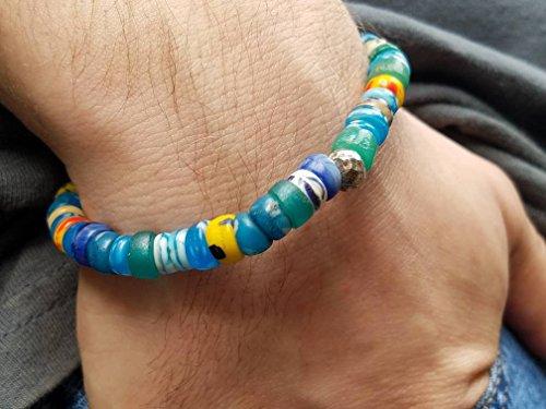 Men's African Trade Bead Bracelet