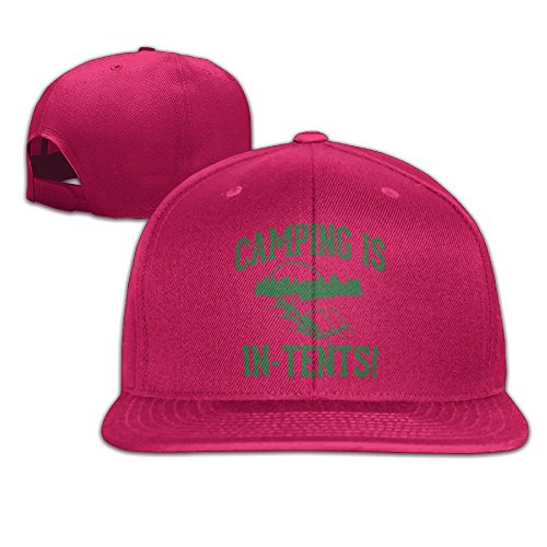 MCWO GRAY Camping is in Tents Unisex Hat Mens Womens Baseball Hat Hip Hop Casquette Outdoor Sport Cap Snapback Hats Red