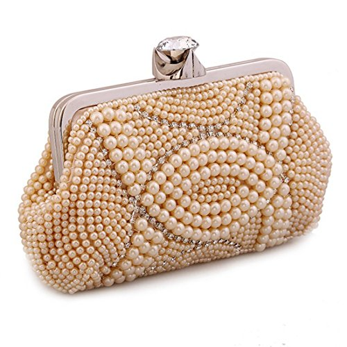 SunFlower Diamond Handbag Fashion Champagne Flower JESSIEKERVIN Clutch Bag Evening Moonlight Bag Party Purse 8xR050wnq