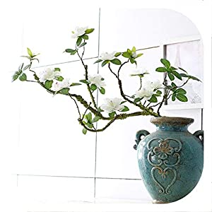 Memoirs- 1 Branch 90 cm Artificial Flower Azalea Fake Flower Decoration Foaming Branch Soft Shape Decorative Flower Rhododendron 12