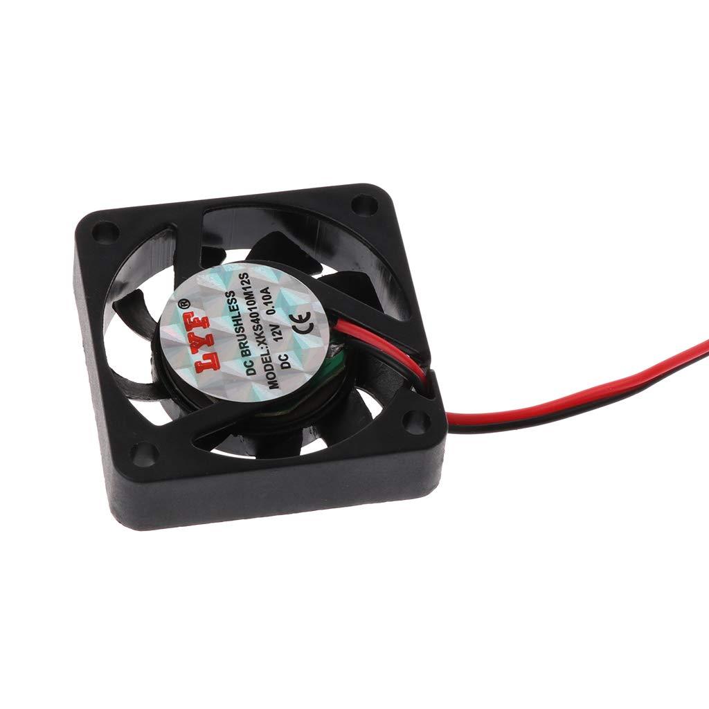huiouer Ventilateur de Refroidissement sans balais 2 Broches DC 12 V 40 mm pour vid/éo Graphique VGA