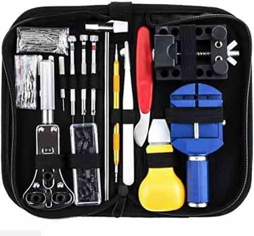 147 PCs Watch Repair Tool Kit Set Mingou Professional Spring Bar Tool Set Watch Link Pin Tool Back Case