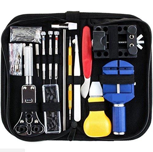 147 PCs Watch Repair Tool Kit Set Mingou Professional Spring Bar Tool Set Watch Link Pin Tool Back - Removal Eyeglasses