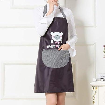 ZhengFei Delantal de Mujer Delantal Impermeable Sin Mangas Cocina ...