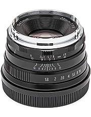 $69 » Koah Artisans Series 25mm f/1.8 Large Aperture Manual Focus Lens for Canon EF (Black)