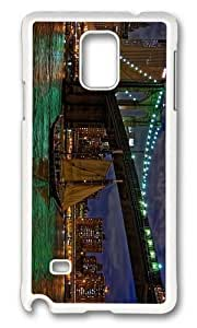 Adorable brooklyn bridge east river Hard Case Protective Shell Cell Phone Samsung Galxy S4 I9500/I9502 - PC White hjbrhga1544