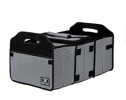 Houndstooth Cargo - Original Folding Trunk Organizer with Cooler by 212 Main - Houndstooth