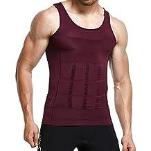 Mens Slimming Shirt Body Shaper Vest Abs Abdomen Slim