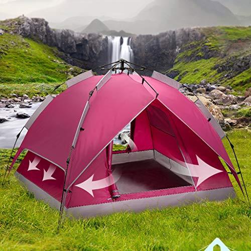 CATRP Marca Tienda De Campaña Al Aire Libre para 3-4 Personas Equipo De Campamento Impermeable A Prueba De Viento con Sombra De Doble Cuenta para Acampar ...