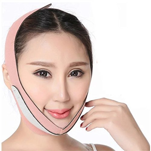 Shining Anti Wrinkle Half Face Slimming Cheek Mask Face Slimmer - Lift V-Line Face Lifting Chin Lift Band Anti-Aging Mask Belt Strap