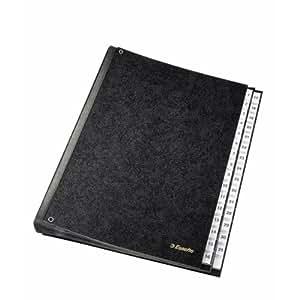 Leitz 1114119 - Archivador de cartón duro con 31 separadores (numerados del 1 al 31), color negro
