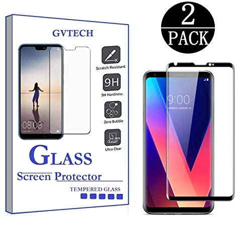 GVTECH Screen Protector for LG V30, Full Coverage Tempered Glass Screen Protector [2.5D Round Edge][9H Hardness][Crystal…