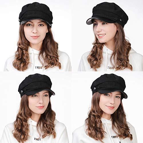 10ac5c6edba04 Womens Newsboy Cap Baker Berets Fisherman Conductor Greek Hat Winter Sailor  Fiddler Casual Fashion Cancer Amazon