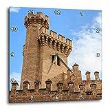 3dRose Danita Delimont - Castles - Spain, Balearic Islands, Mallorca, Palma de Mallorca, Almudaina palace - 15x15 Wall Clock (dpp_277904_3)