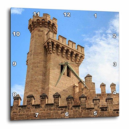 3dRose Danita Delimont - Castles - Spain, Balearic Islands, Mallorca, Palma de Mallorca, Almudaina palace - 15x15 Wall Clock (dpp_277904_3) by 3dRose