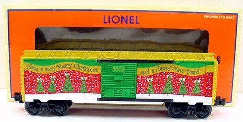 Lionel, 6-25008, 2006 Christmas Box Car, Die-cast Metal Sprung Trucks and Couplers, Stamped Metal Frame ()