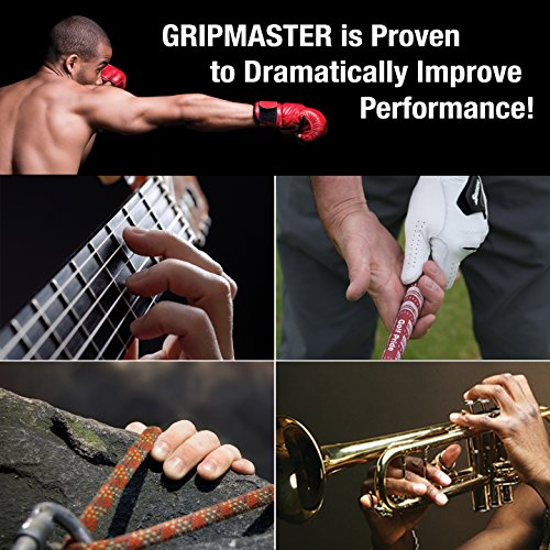 GRIP MASTER Gripmaster 14003-BLK Hand Exerciser Black, Heavy Tension (9-Pounds per Finger) by GRIP MASTER (Image #5)