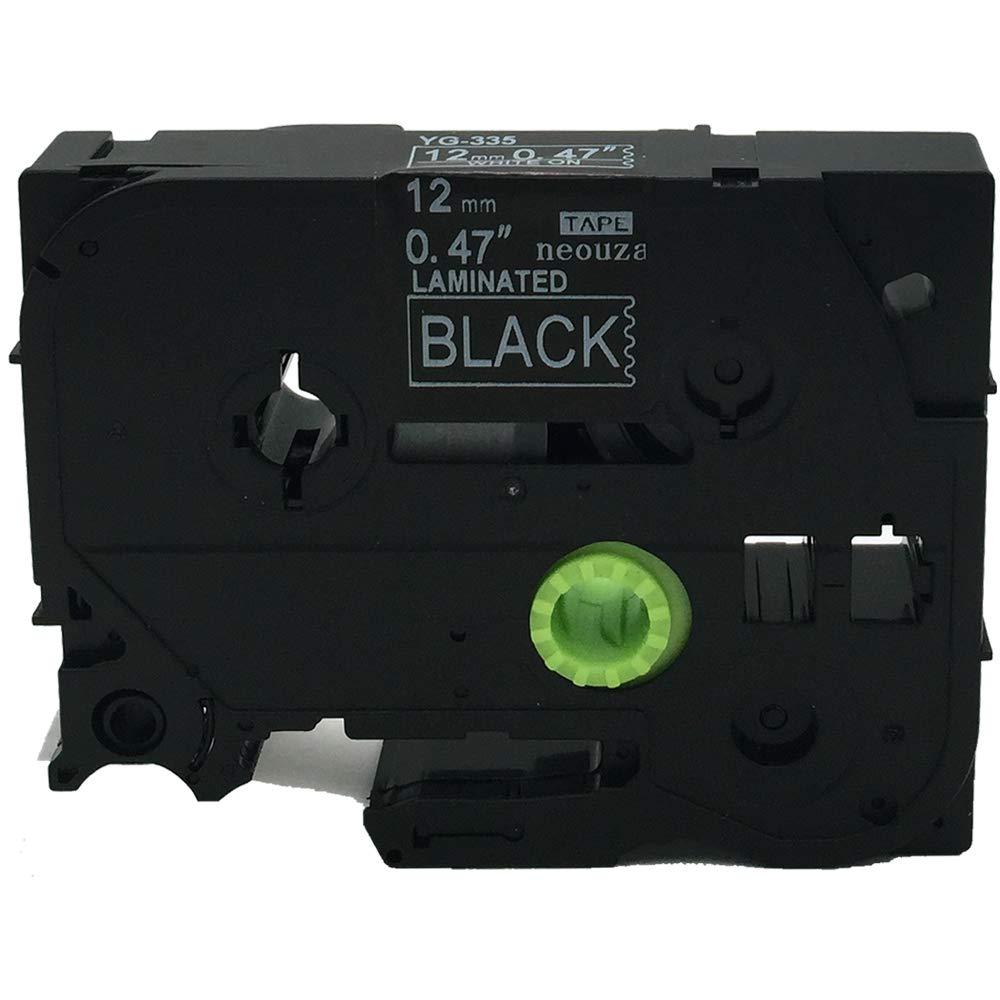 neouza 3pk COMPATIBLES para Brother P-Touch laminado TZE TZ Label Cartucho De Cinta De 12/Mm X 8/M color TZe-531 Black on Blue