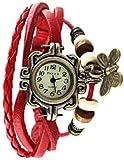 MVS Analogue Butterfly Beige Dial Women's Watch - MVSA0255