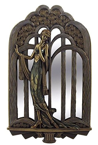 14.5 Inch Art Deco Wall Mirror Fashion Lady Interior Design Decor ...