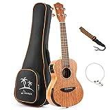 (US) Donner Solid Electro-acoustic Ukulele Electric Concert Ukulele EQ 23 inch Mahogany Body DUC-4E