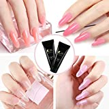 COSCELIA 6 Colors Poly Nail Gel Kit with 36W LED