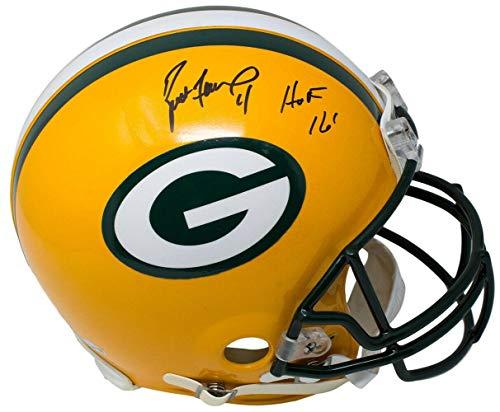 Helmet Brett Favre (Signed Brett Favre Helmet - Full Size Authentic HOF 16 Fanatics - Fanatics Authentic Certified - Autographed NFL Helmets)