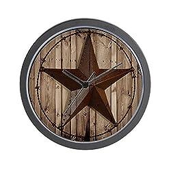 CafePress Western Texas Star Unique Decorative 10 Wall Clock