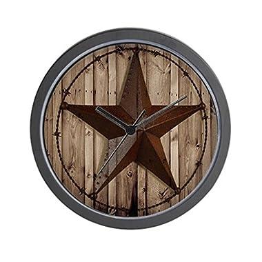 CafePress - Western Texas Star - Unique Decorative 10  Wall Clock