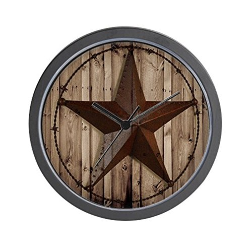 "CafePress - Western Texas Star - Unique Decorative 10"" Wall Clock"