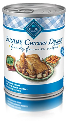Blue Buffalo Family Favorites Natural Adult Wet Dog Food, Sunday Chicken 12.5-oz can (Pack of 12)