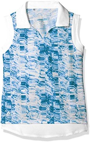 adidas Golf Girls Printed Sleeveless Polo Shirt, Night Sky, Small ()